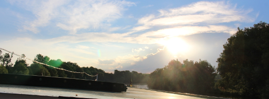 Sonnenuntergang bei Schiff Ahoi