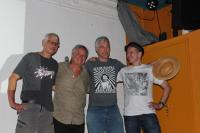DJ Barny Trouble, Simon Steiner, ScharpingPershig und Norbert Prothmann (von links)